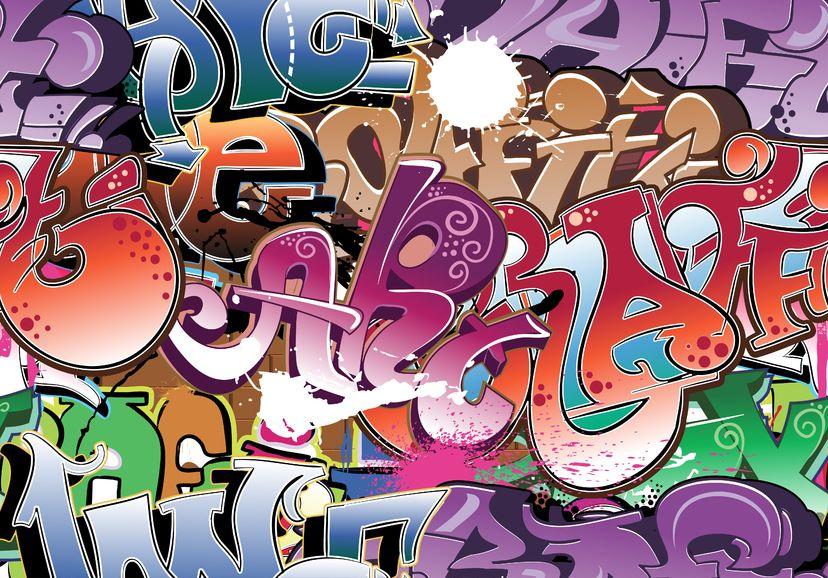11485962 - graffiti urban background seamless